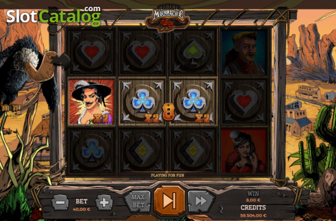 Win Screen 4. Madame Moustache (Video Slots from Spinmatic)