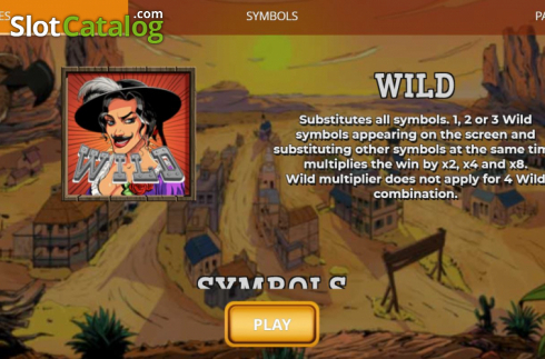 Wild Symbol. Madame Moustache (Video Slots from Spinmatic)