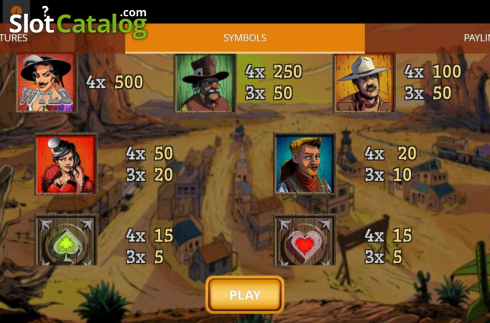 Paytable 1. Madame Moustache (Video Slots from Spinmatic)