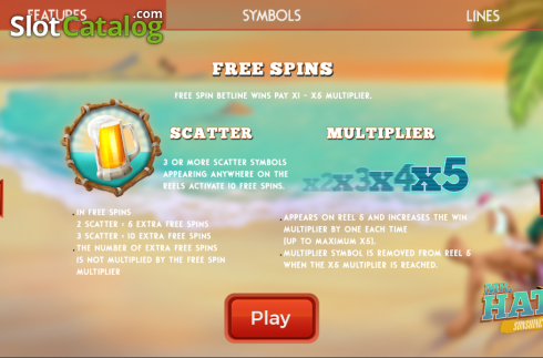 Free Spin. Mr.Hat: Sunshine (Video Slots from Spinmatic)