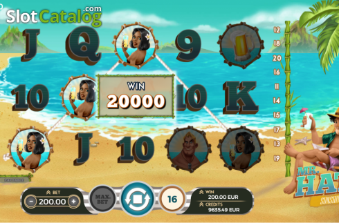 Gameplay. Mr.Hat: Sunshine (Video Slots from Spinmatic)