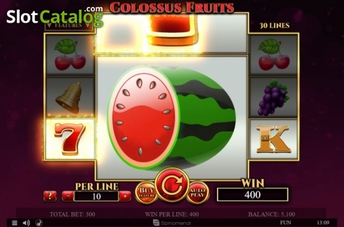 Tela2. Colossus Fruits (Slot de video a partir de Spinomenal)