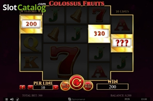 Tela4. Colossus Fruits (Slot de video a partir de Spinomenal)