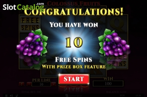 Màn5. Colossus Fruits (Video Slot từ Spinomenal)