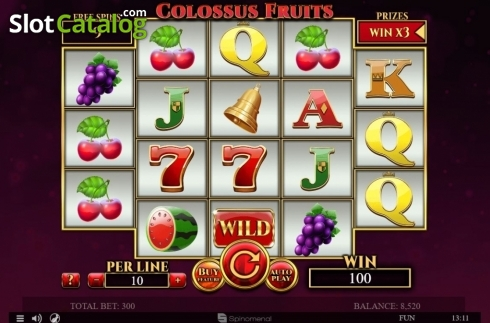 Tela6. Colossus Fruits (Slot de video a partir de Spinomenal)