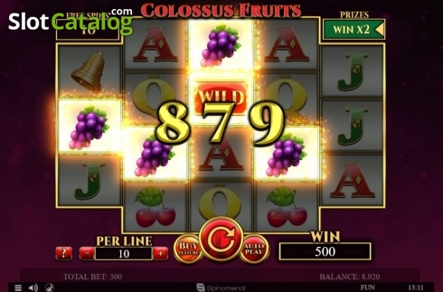 Tela7. Colossus Fruits (Slot de video a partir de Spinomenal)