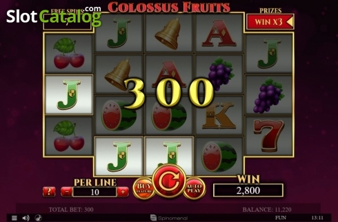 Màn8. Colossus Fruits (Video Slot từ Spinomenal)
