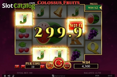 Tela9. Colossus Fruits (Slot de video a partir de Spinomenal)