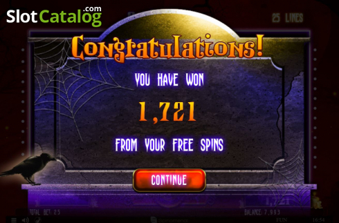 Total Win. Spinoween (Video Slot from Spinomenal)