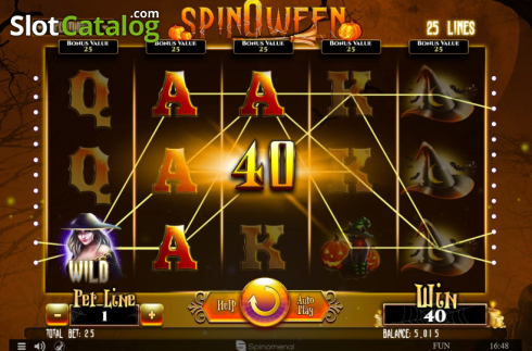 Win Screen 1. Spinoween (Video Slot from Spinomenal)