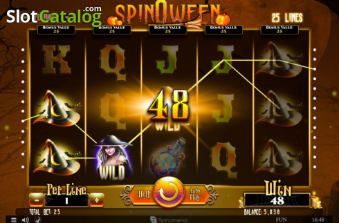 Win Screen 2. Spinoween (Video Slot from Spinomenal)