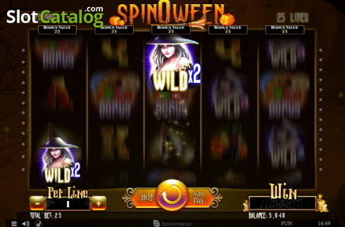 Extra Wilds. Spinoween (Video Slot from Spinomenal)
