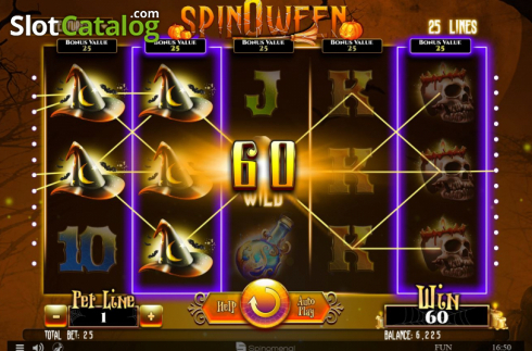 Win Screen 3. Spinoween (Video Slot from Spinomenal)