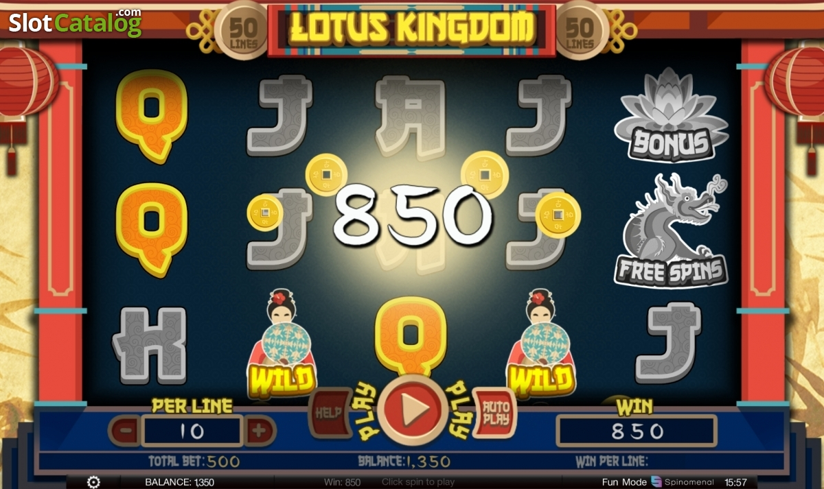Review of lotus kingdom video slot from spinomenal slotcatalog win izmirmasajfo