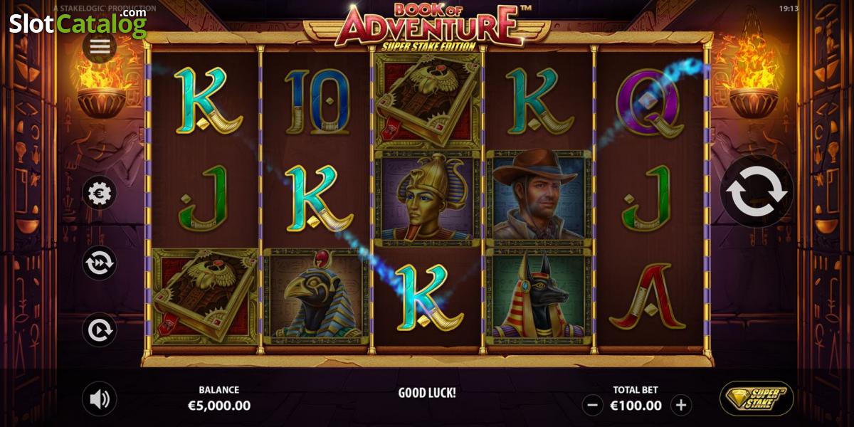 Book of adventure stake logic casino slots world uitboren game