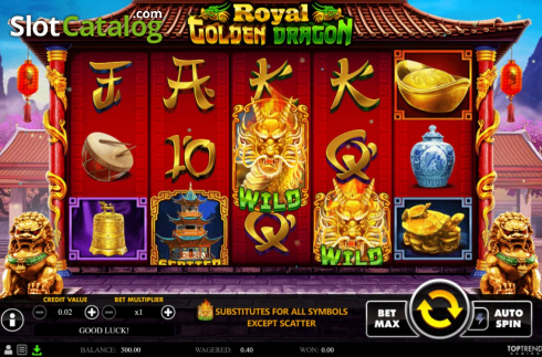 Reel Screen. Royal Golden Dragon (Video Slots from Swintt)