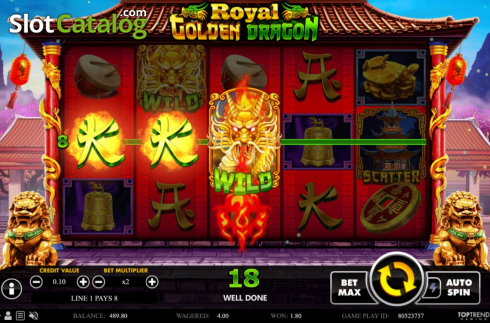 Win Screen 1. Royal Golden Dragon (Video Slots from Swintt)