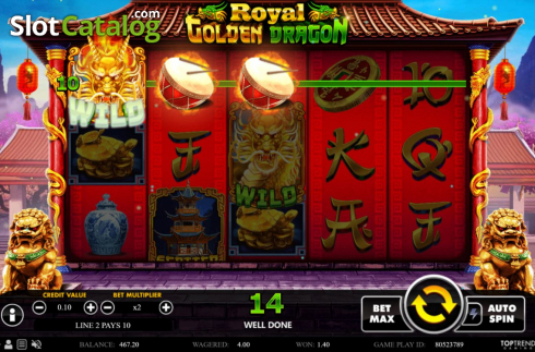Win Screen 2. Royal Golden Dragon (Video Slots from Swintt)