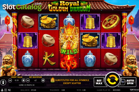 Win Screen 3. Royal Golden Dragon (Video Slots from Swintt)