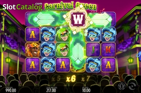 Képernyő10. Carnival Queen (Video Slot tól től Thunderkick)