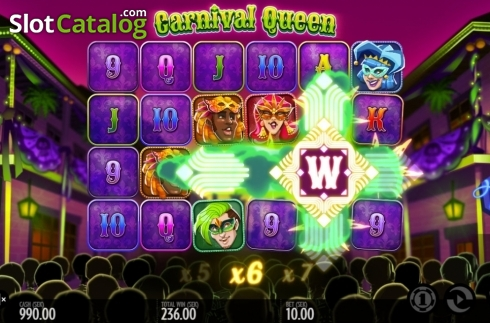 Képernyő11. Carnival Queen (Video Slot tól től Thunderkick)