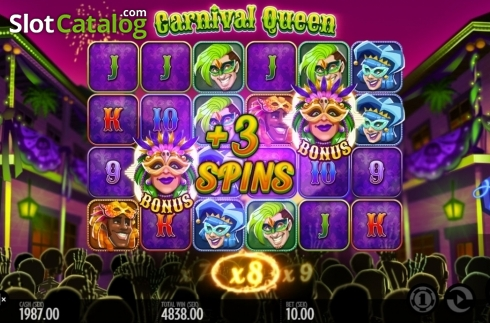 Képernyő12. Carnival Queen (Video Slot tól től Thunderkick)