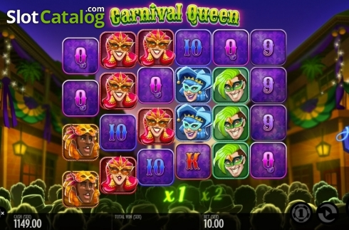 Képernyő2. Carnival Queen (Video Slot tól től Thunderkick)