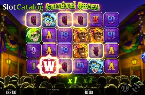 Képernyő4. Carnival Queen (Video Slot tól től Thunderkick)