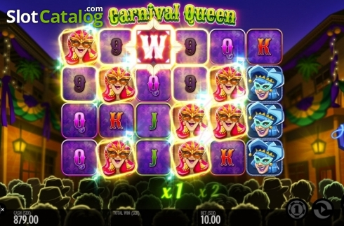 Képernyő5. Carnival Queen (Video Slot tól től Thunderkick)