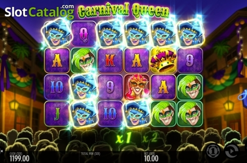 Képernyő7. Carnival Queen (Video Slot tól től Thunderkick)