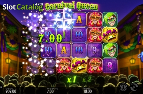 Képernyő9. Carnival Queen (Video Slot tól től Thunderkick)