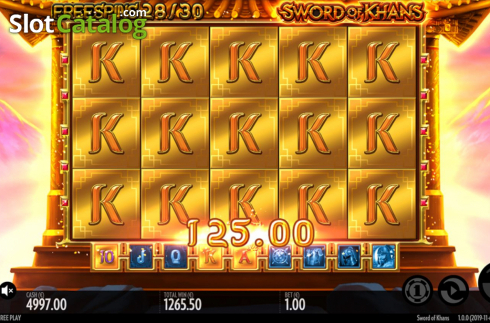 Win Screen 3. Sword Of Khans (Video Slots from Thunderkick)