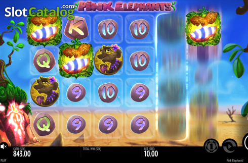scatter symbol spin. Pink Elephants (Video Slot from Thunderkick)