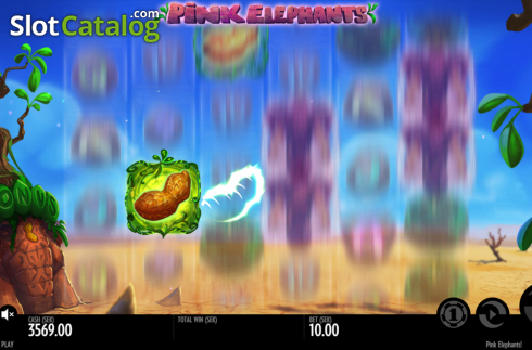 Scatter symbol. Pink Elephants (Video Slot from Thunderkick)