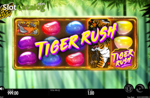 Tiger rush screen. Tiger Rush (Video Slot from Thunderkick)