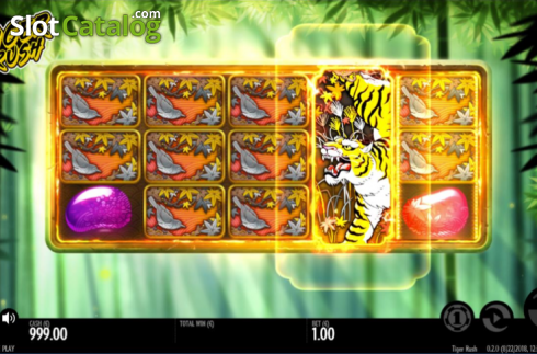 Expanding wild screen. Tiger Rush (Video Slot from Thunderkick)