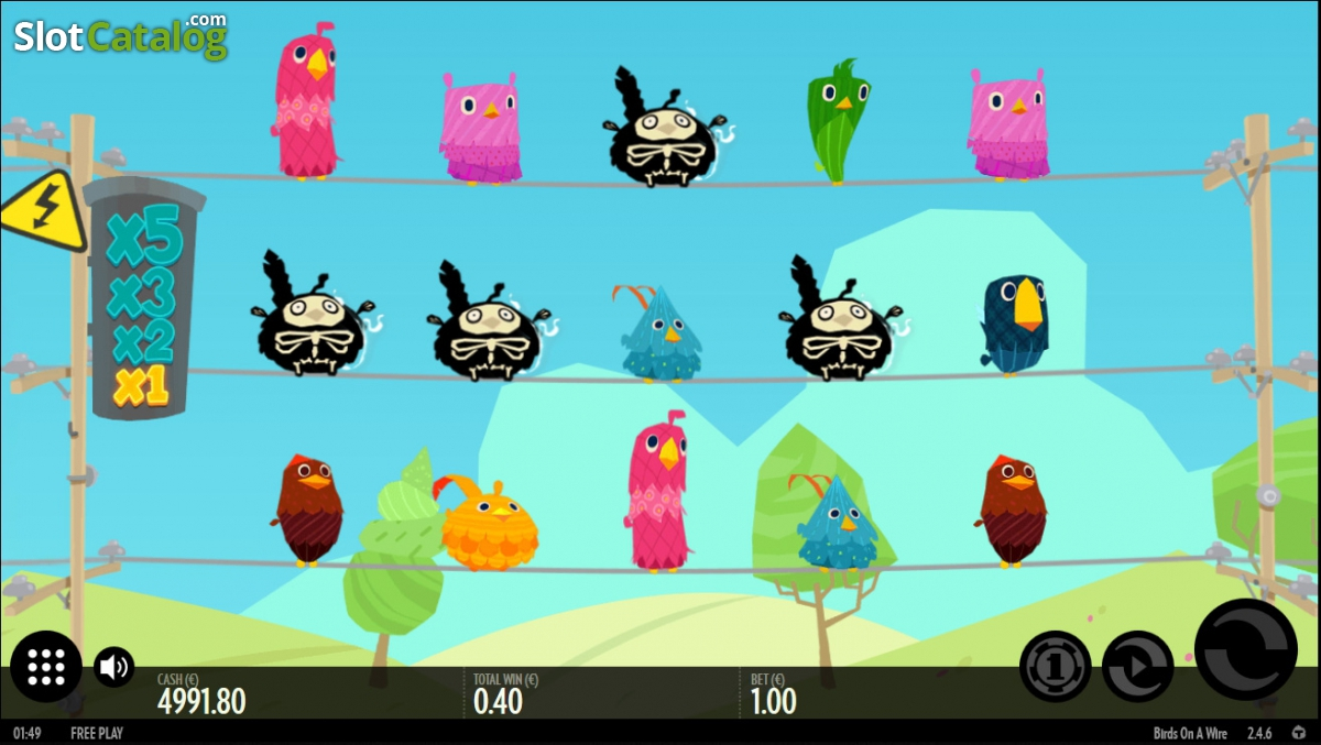 Birds on a Wire Slot - Play for Free With No Download