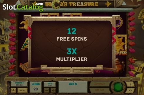 Free Spins 1. Inca's Treasure (Video Slot from Tom Horn Gaming)