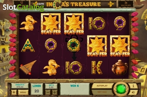 Free Spins 2. Inca's Treasure (Video Slot from Tom Horn Gaming)