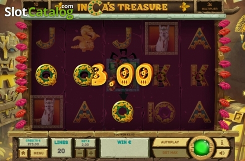 Free Spins 3. Inca's Treasure (Video Slot from Tom Horn Gaming)