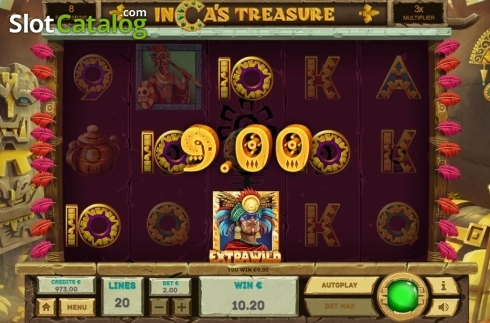 Free Spins 4. Inca's Treasure (Video Slot from Tom Horn Gaming)