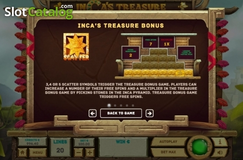Features 1. Inca's Treasure (Video Slot from Tom Horn Gaming)