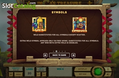 Features 2. Inca's Treasure (Video Slot from Tom Horn Gaming)