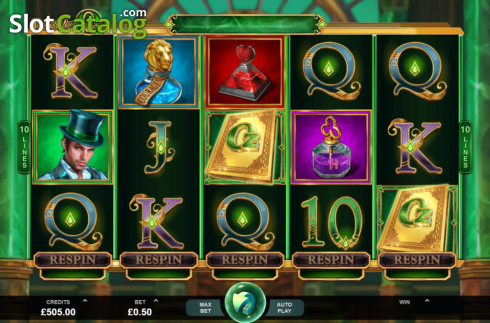 Skjerm2. Book of Oz (Video Slot fra Triple Edge Studios)