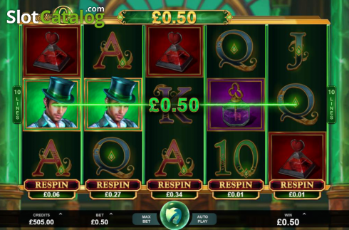 Skjerm3. Book of Oz (Video Slot fra Triple Edge Studios)