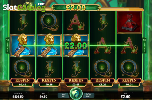 Skjerm4. Book of Oz (Video Slot fra Triple Edge Studios)