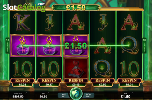 Skjerm5. Book of Oz (Video Slot fra Triple Edge Studios)