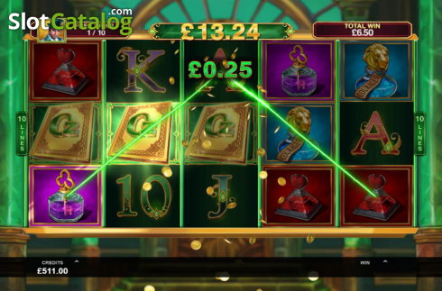 Skjerm8. Book of Oz (Video Slot fra Triple Edge Studios)