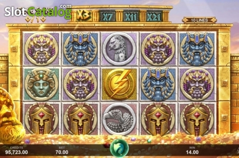 Free Spins. Ancient Fortunes: Zeus (Video Slot from Triple Edge Studios)