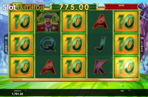 Free spins screen 3. Bookie of Odds (Video Slot from Triple Edge Studios)
